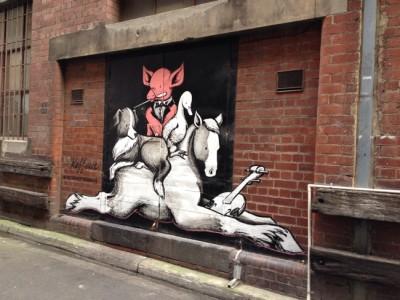 メルボルンの裏路地グラフィティアートはエブリデー芸術祭