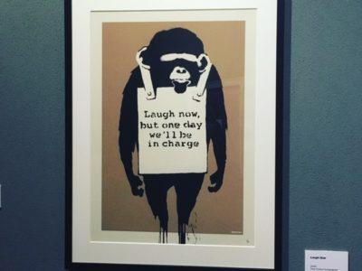 メルボルンでバンクシー・アート展。グラフィティーアートで表現される痛烈な風刺を体感して来ました。