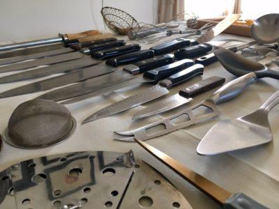 収納や整頓としても使える「ノーリング」は並べるアート。キッチン道具でトライしてみたよ。